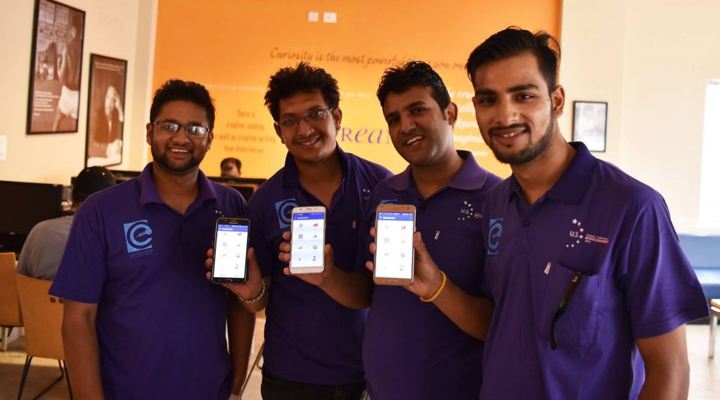 Meet 'Econstruction App' team | Image Source: US Embassy Nepal