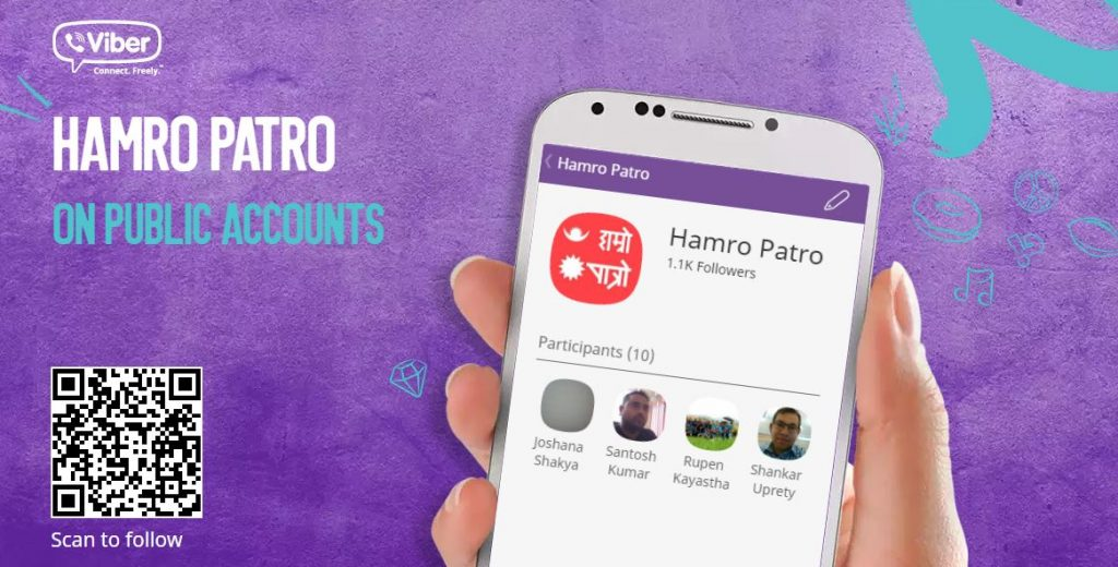 Find Hamro Patro in Viber as Public Account