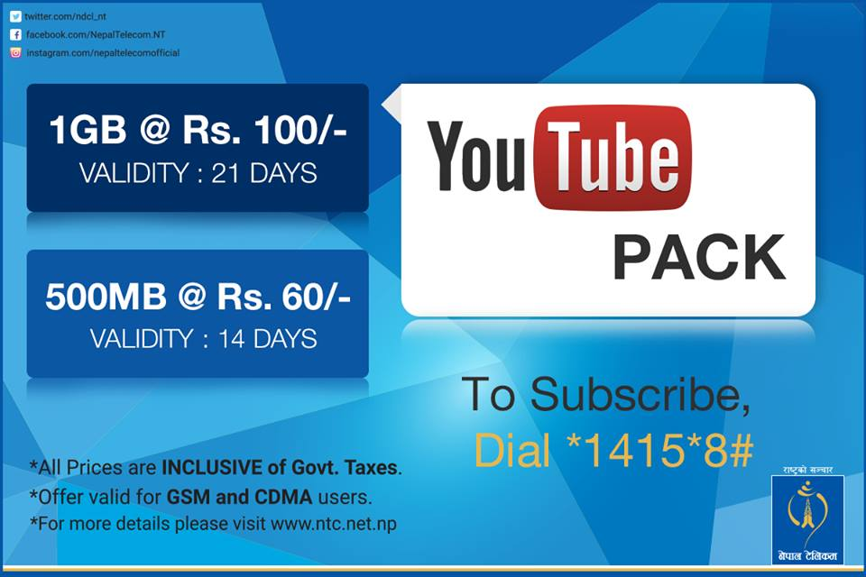 nepal-telecom-youtube-datapack-offer