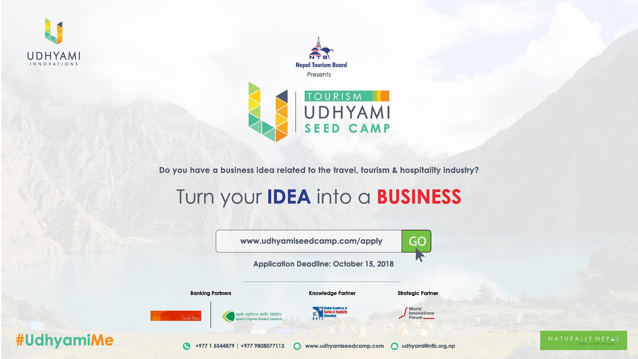 tourism udhyami seed camp